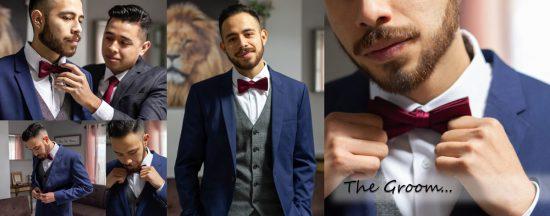 Fotos de los preparativos para la boda del novio by Paty de Leon Photography